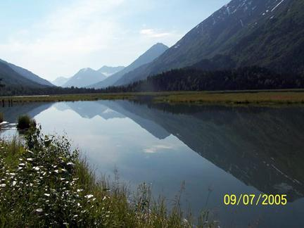Alaska mountain and lake scenery