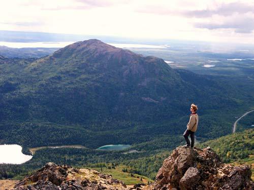 person overlooking Alaska valley
