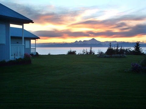 Alaska sunset view from cottage