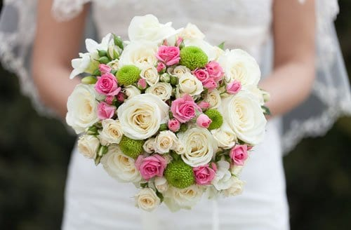 bouquet of flowers at wedding