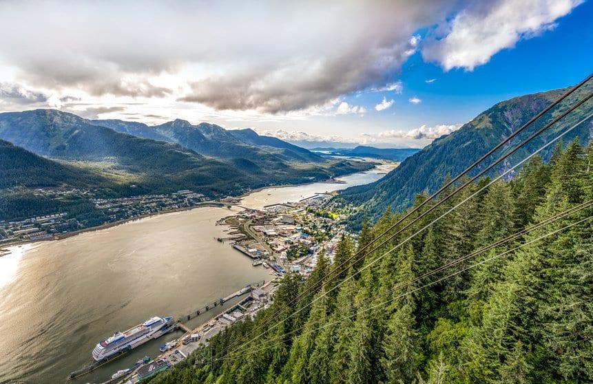 mountain overlook in Alaska