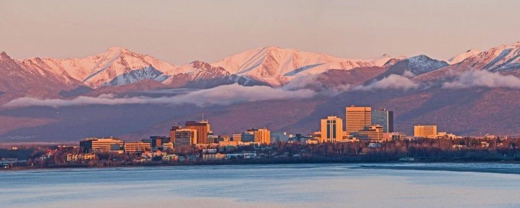 Anchorage city skyline
