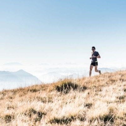 person running Mount Marathon race