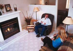 people sitting in living room